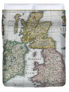 Antique Map Of Britain Duvet Cover by English School