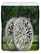Antique Paddle Wheel University Of Alabama Birmingham Duvet Cover by Kathy Clark