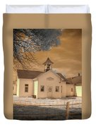 Arcola Illinois School Duvet Cover by Jane Linders