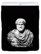 Aristotle, Ancient Greek Philosopher Duvet Cover by Omikron