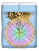 Aristotlelian And Christian Cosmologies Duvet Cover by Science Source