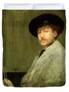 Arrangement In Grey - Portrait Of The Painter Duvet Cover by James Abbott McNeill Whistler