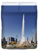 Art Deco Buckingham Fountain Chicago Duvet Cover by Christine Till