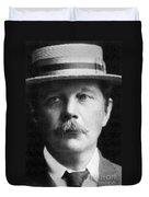 Arthur Conan Doyle, Scottish Author Duvet Cover by Science Source