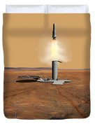 Artists Concept Of An Ascent Vehicle Duvet Cover by Stocktrek Images