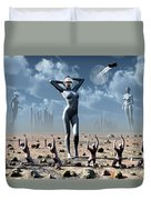 Artists Concept Of Mankinds Reliance Duvet Cover by Mark Stevenson