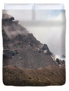 Ash And Gas Rising From Lava Dome Duvet Cover by Richard Roscoe