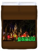 Assembly Hall Slc Christmas Duvet Cover by La Rae  Roberts