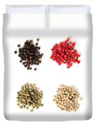 Assorted Peppercorns Duvet Cover by Elena Elisseeva