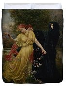 At The First Touch Of Winter Summer Fades Away Duvet Cover by Valentine Cameron Prinsep