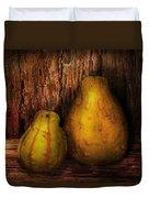 Autumn - Gourd - A Pair Of Squash  Duvet Cover by Mike Savad