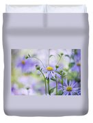 Autumn Asters Duvet Cover by Jacky Parker
