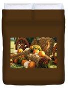 Autumn Bounty Duvet Cover by Kathy Clark