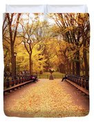Autumn - Central Park - New York City Duvet Cover by Vivienne Gucwa