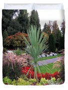 Autumn Gardens In Vancouver Duvet Cover by Will Borden