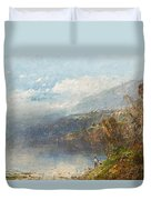 Autumn On The Androscoggin Duvet Cover by William Sonntag