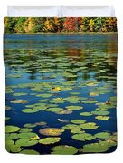 Autumn On The River Duvet Cover by Rick Frost