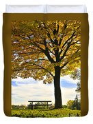 Autumn Park Duvet Cover by Elena Elisseeva