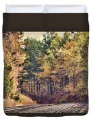 Autumn Railroad Duvet Cover by Douglas Barnard