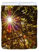 Autumn Sunburst Duvet Cover by Carolyn Marshall