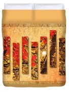 Autumn Sunrise Painterly Abstract Duvet Cover by Andee Design
