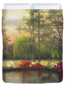 Autumn Sunset Duvet Cover by Diane Romanello
