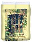 Autumn Vines Across A Window Duvet Cover by Georgia Fowler