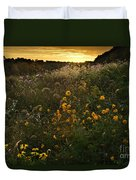 Autumn Wildflower Sunset - D007757 Duvet Cover by Daniel Dempster