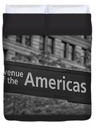 Avenue Of The Americas Duvet Cover by Susan Candelario