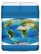 Average Plant Growth Of The Earth Duvet Cover by Stocktrek Images
