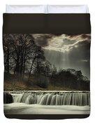 Aysgarth Falls Yorkshire England Duvet Cover by John Short
