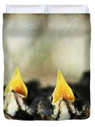 Baby Birds Duvet Cover by Darren Fisher