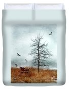 Baby Buggy By Tree With Nest And Birds Duvet Cover by Jill Battaglia