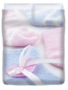 Baby Socks  Duvet Cover by Elena Elisseeva