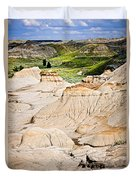 Badlands In Alberta Duvet Cover by Elena Elisseeva