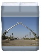 Baghdad, Iraq - Hands Of Victory Duvet Cover by Terry Moore