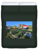 Balloons In Coolidge Park Duvet Cover by Tom and Pat Cory