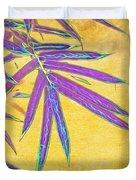 Bamboo Batik II Duvet Cover by Judi Bagwell
