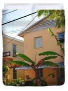 Banana Tree Lane in Key West Duvet Cover by Susanne Van Hulst