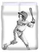 Baseball Kid Duvet Cover by Murphy Elliott