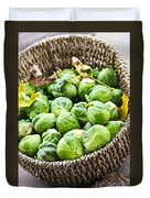 Basket Of Brussels Sprouts Duvet Cover by Elena Elisseeva