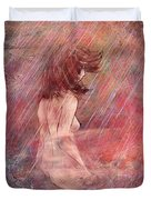 Bathing In The Rain Duvet Cover by Rachel Christine Nowicki
