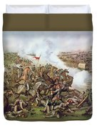 Battle Of Five Forks Virginia 1st April 1865 Duvet Cover by American School