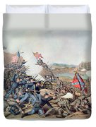 Battle Of Franklin November 30th 1864 Duvet Cover by American School