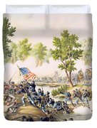 Battle Of Spottsylvania May 1864 Duvet Cover by American School