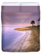 Beach Along Saint Josephs Bay Florida Duvet Cover by Tim Fitzharris
