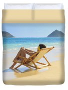 Beach Lounger II Duvet Cover by Tomas del Amo