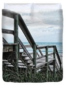 Beach Steps Duvet Cover by Joan  Minchak