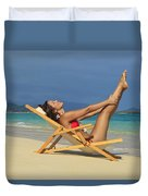 Beach Stretches Duvet Cover by Tomas del Amo