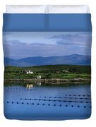 Beara, Co Cork, Ireland Mussel Farm Duvet Cover by The Irish Image Collection